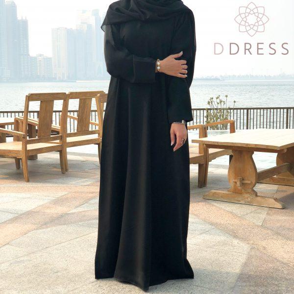 abaya noir simple classique dubai modest