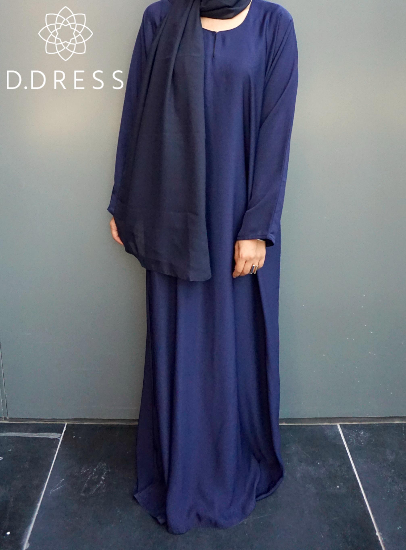abya dubai simple bleu nidha nidah modest fashion
