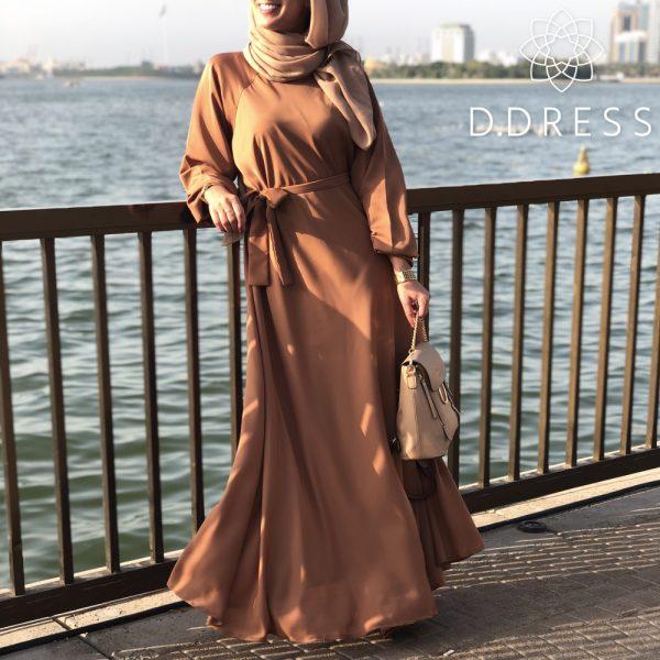 abaya ddress camel basique umbrella evasee dubai nidah nidha camel modest