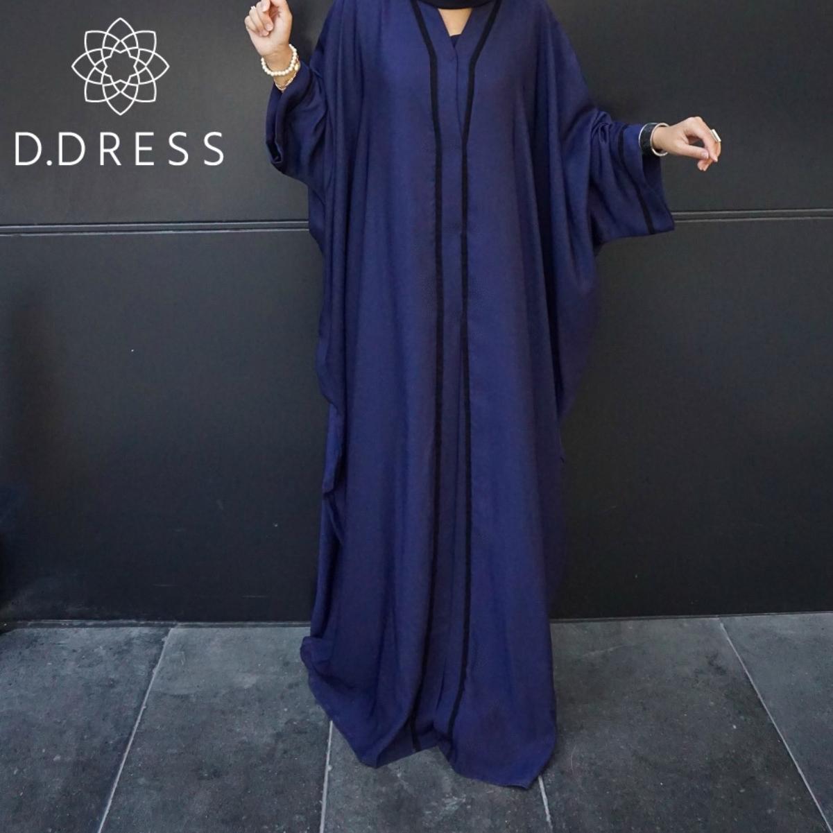 bellamy blue abaya dubai papillon farasha ddress