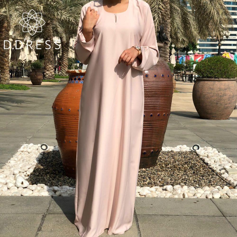 classic abaya dubai simple nidah nidha beige