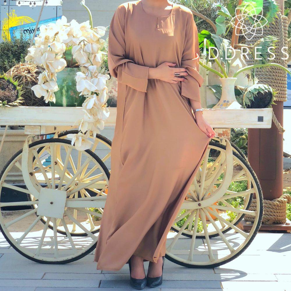 classique abaya nidha nidah camel simple dubai d.dress