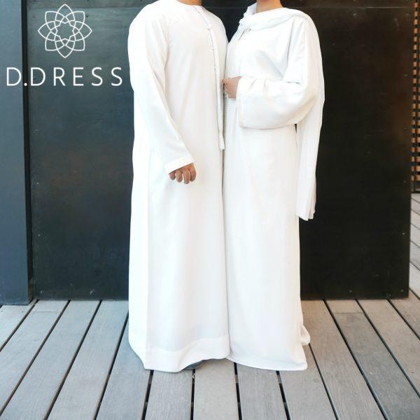 collection couple ddress miss v blanc nidah abaya Qamis Dubai emirati