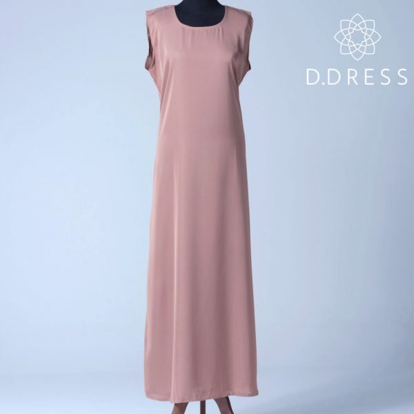 sous robe blush sans manches slip dress abaya ddress