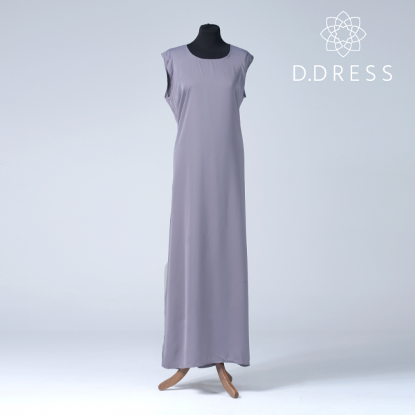 sous robe gris sous abaya ddress dubai nidah -2