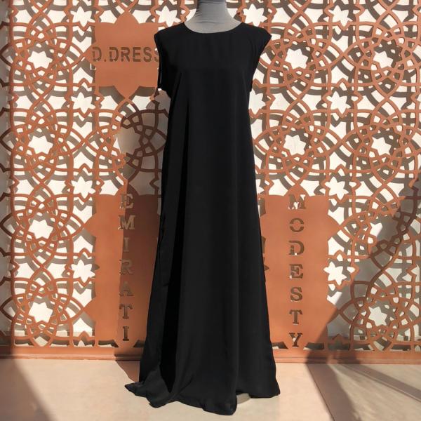 sous robe noire nidah abaya dubai nidha slip dress under dress black