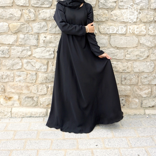 umbrella abaya flare noir nidha nidah dubai most islamique