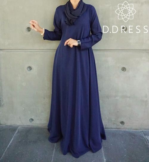 umbrella bleu flare abaya dubai islamic modest fashion nidha nidah