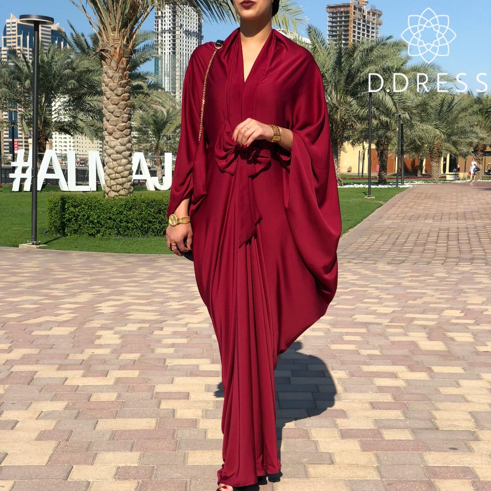 abaya noeud rouge nidah dubai modest nidha