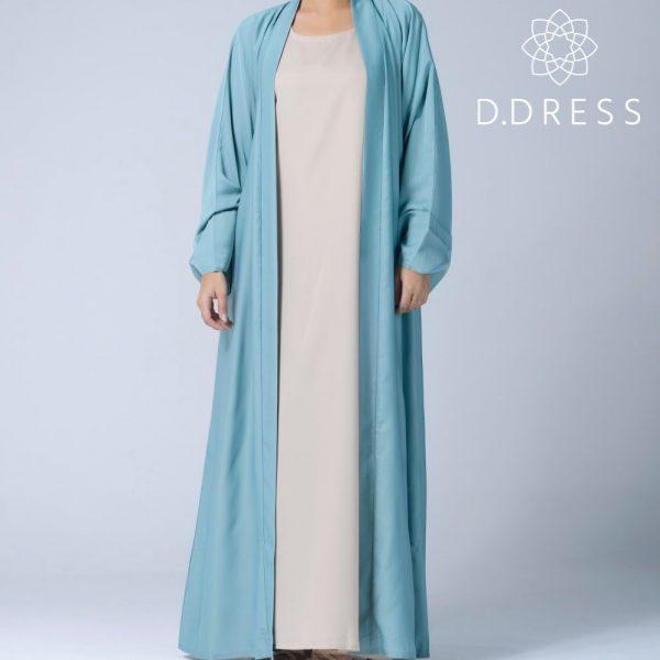 abaya celadon kimono ddress nidah nidha dubai