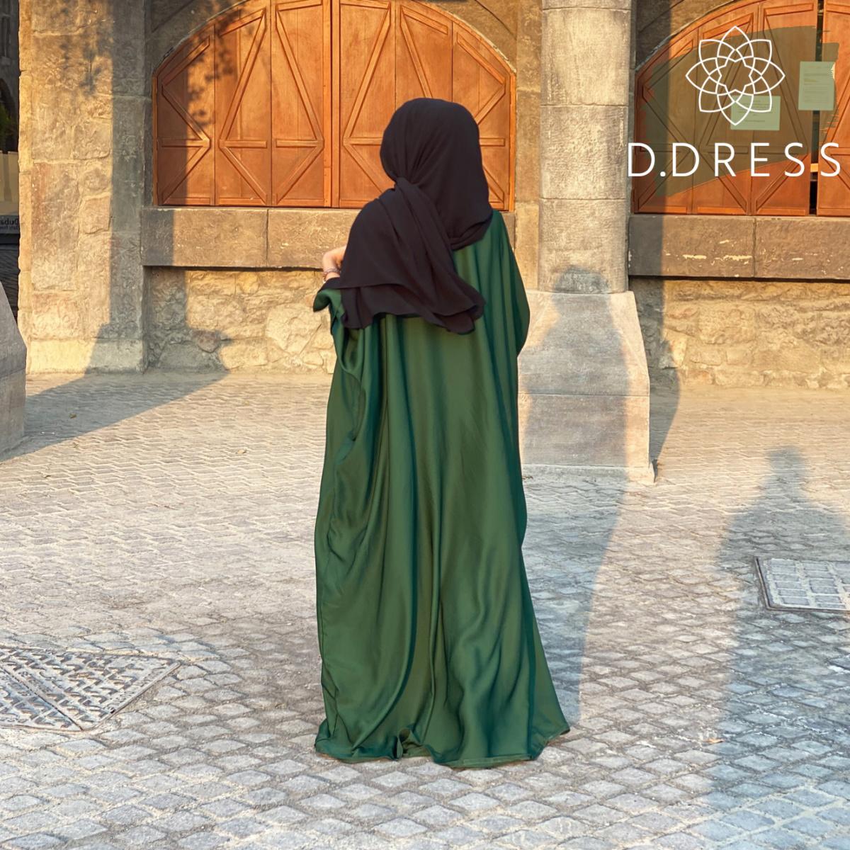 abaya faracha vert sapin dubai papillon nida