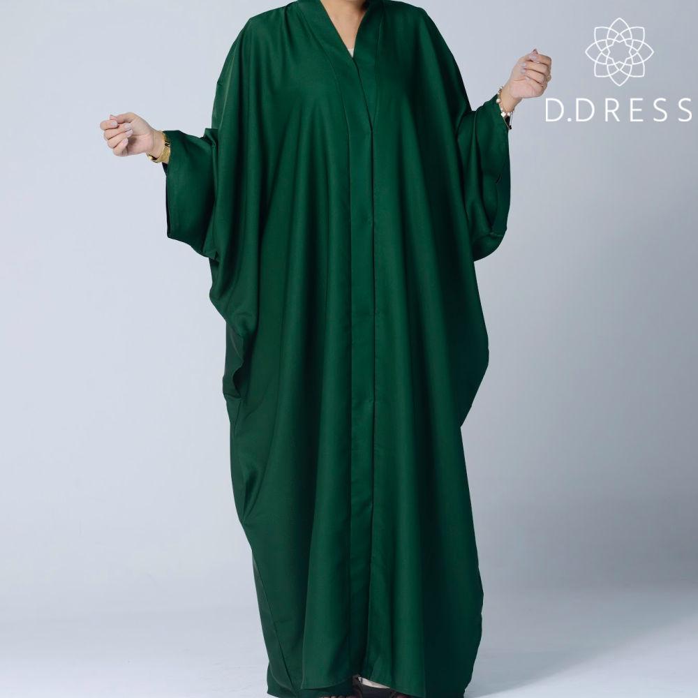 abaya vert sapin faracha ddress butterfly nidah nidha dubai