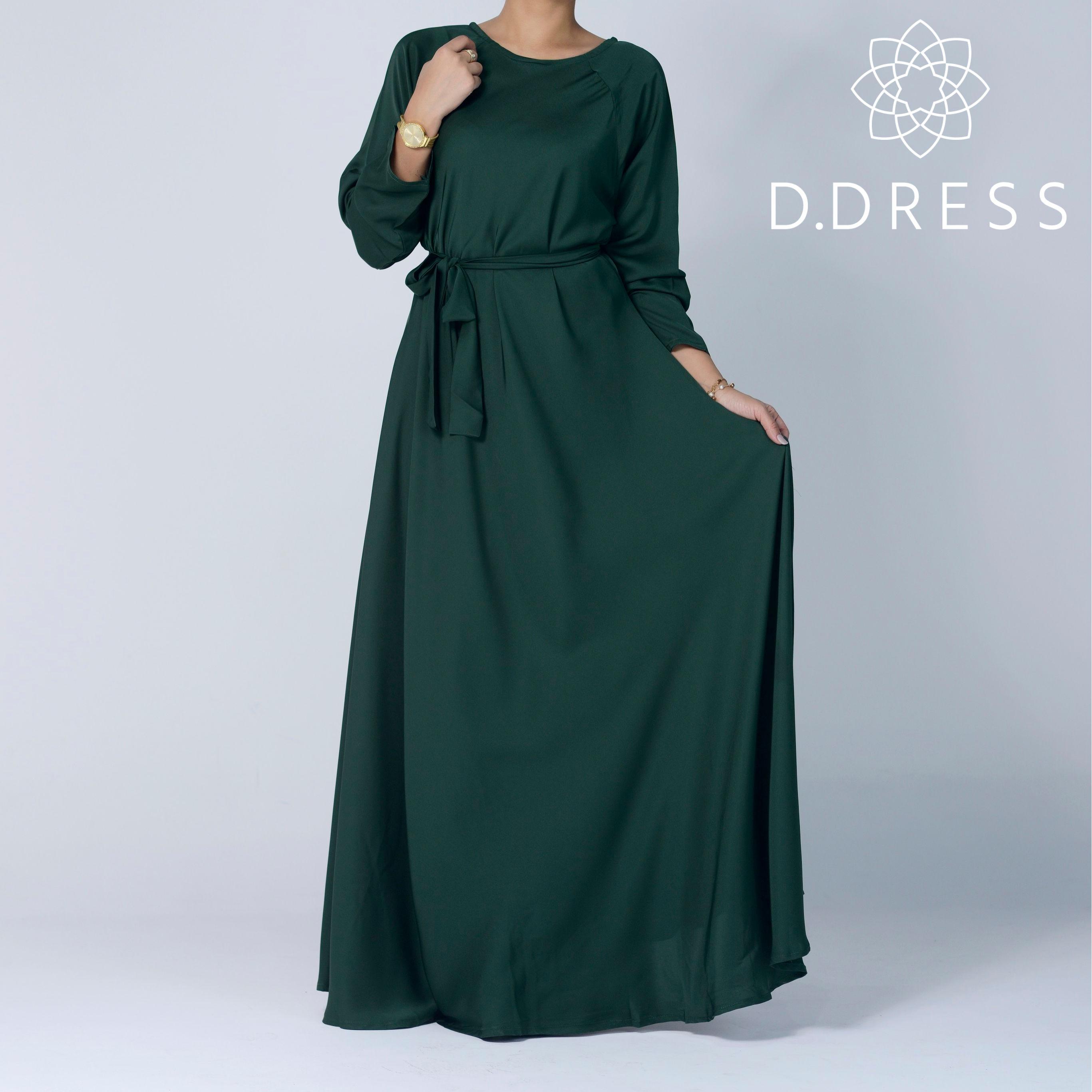 abaya vert sapin umbrella ddress flared nidah nidha dubai maxi