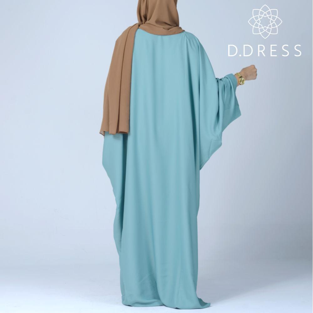 faracha celadon abaya ddress papillon