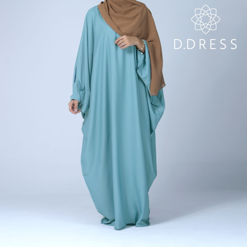 faracha vert celadon fermee papillon abaya ddress farasha