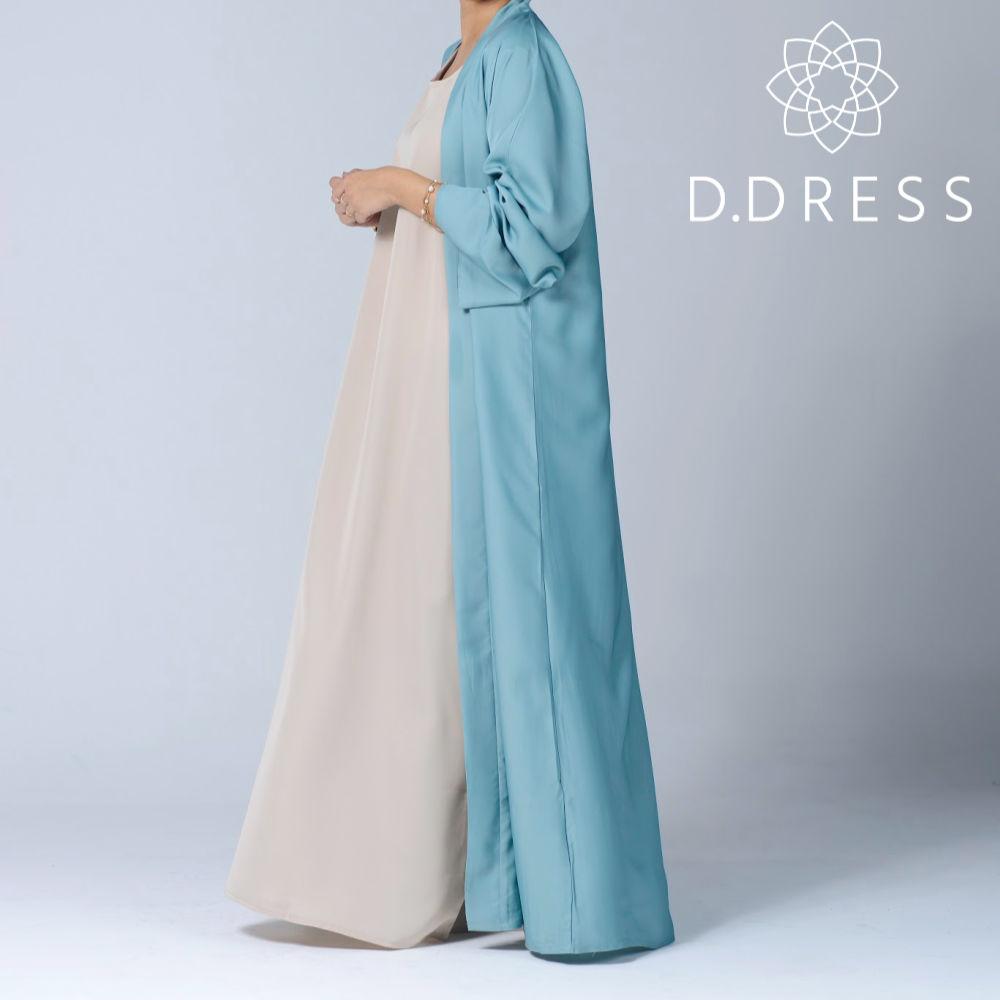 kimono celadon abaya ddress nidah dubai ceinture modest fashion hijab