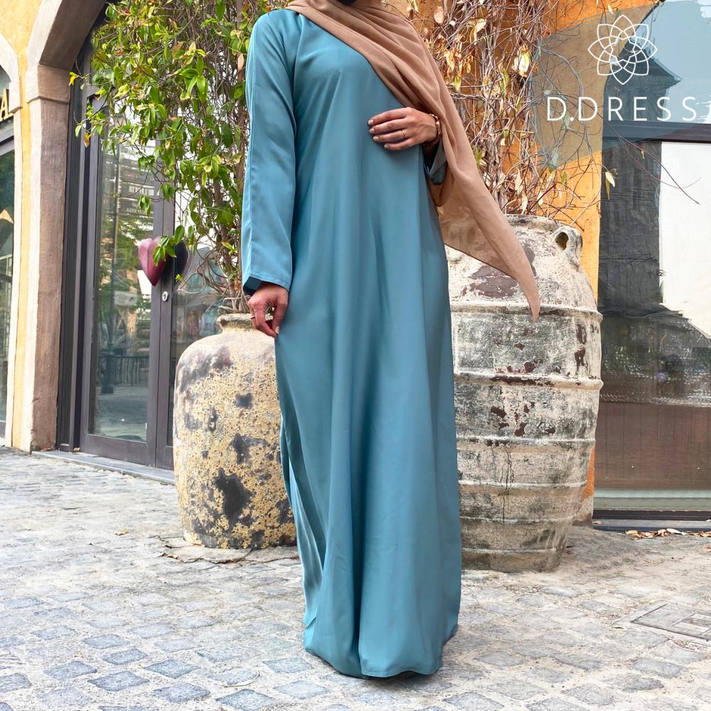abaya anya ddress classique droite celadon nidah dubai