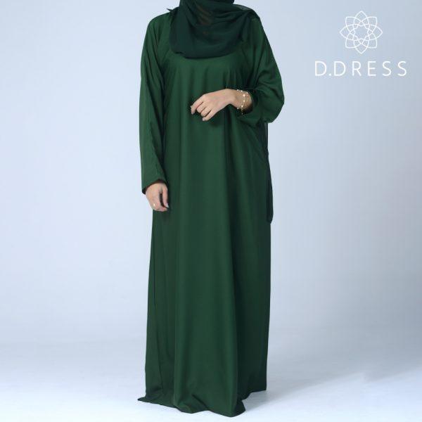 abaya droite anya ddress nidah dubai vert