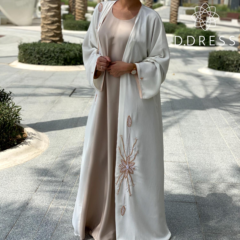 abaya ddress dubai zoom blanche perlee
