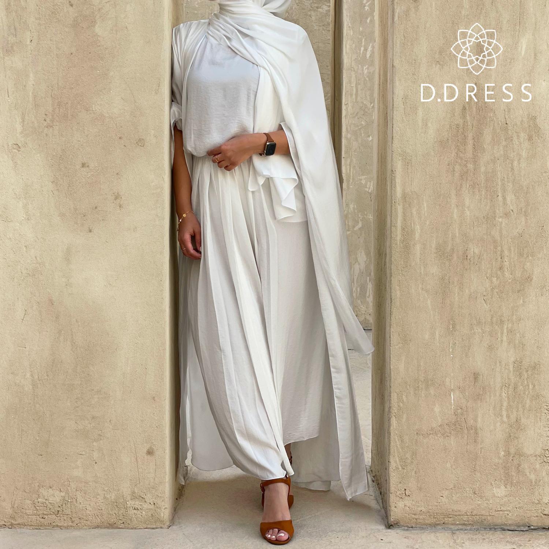 ensemble harir mara set blanc white ddress dubai abaya-2