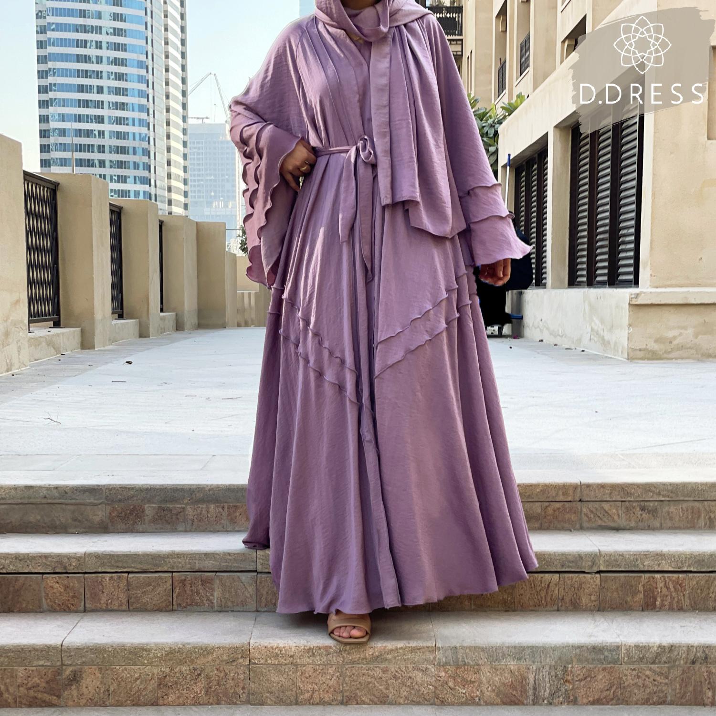 flared abaya dubai mara purple anya ddress