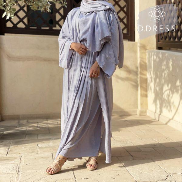ensemble jupe abaya baby blue ddress abaya dubai harir